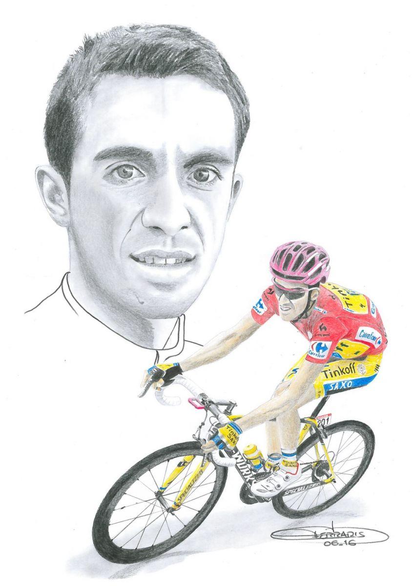 Alberto Contador dessiné par Didier Ferraris