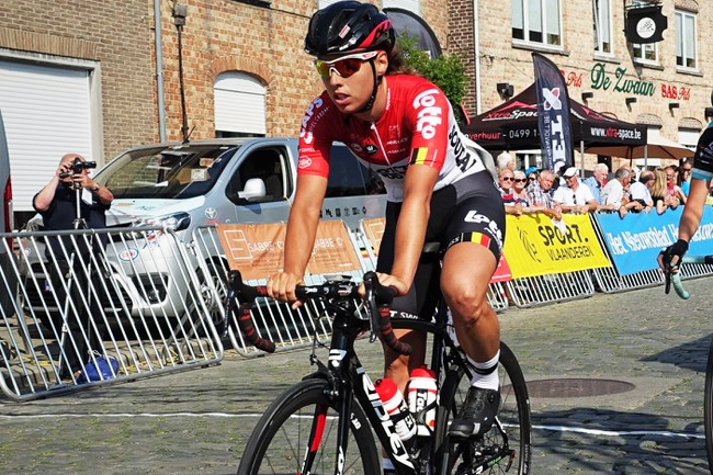 Annelies Dom (Lotto-Soudal Ladies) en juin 2018
