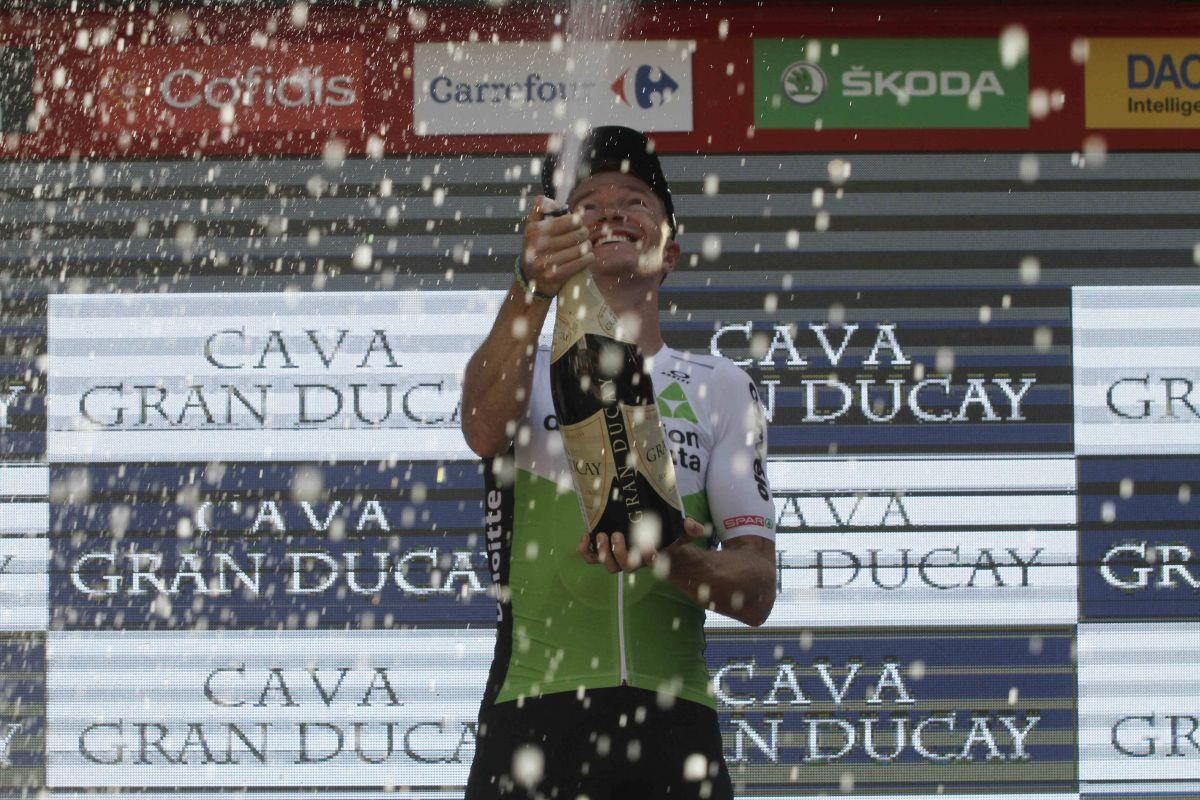 Ben King Podium de la Vuelta 2018