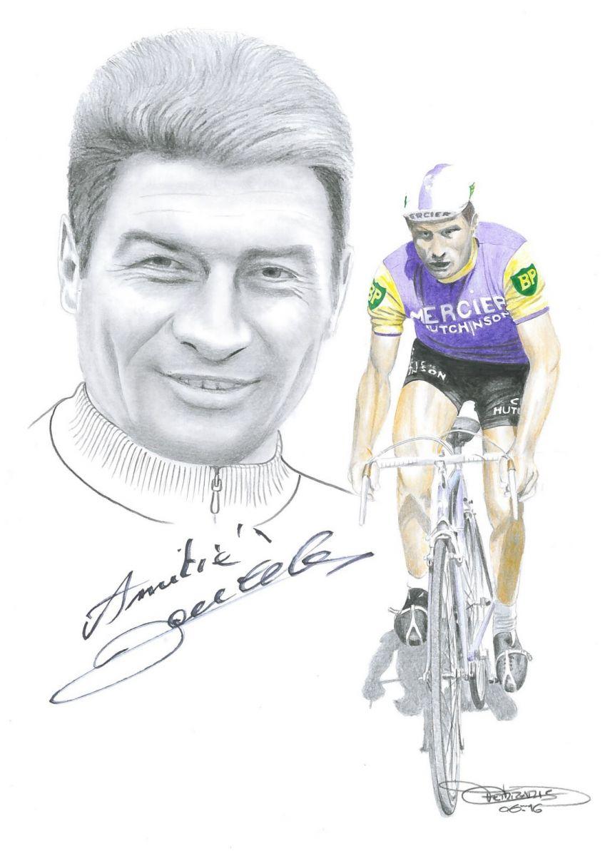 Caricature de Raymond Poulidor