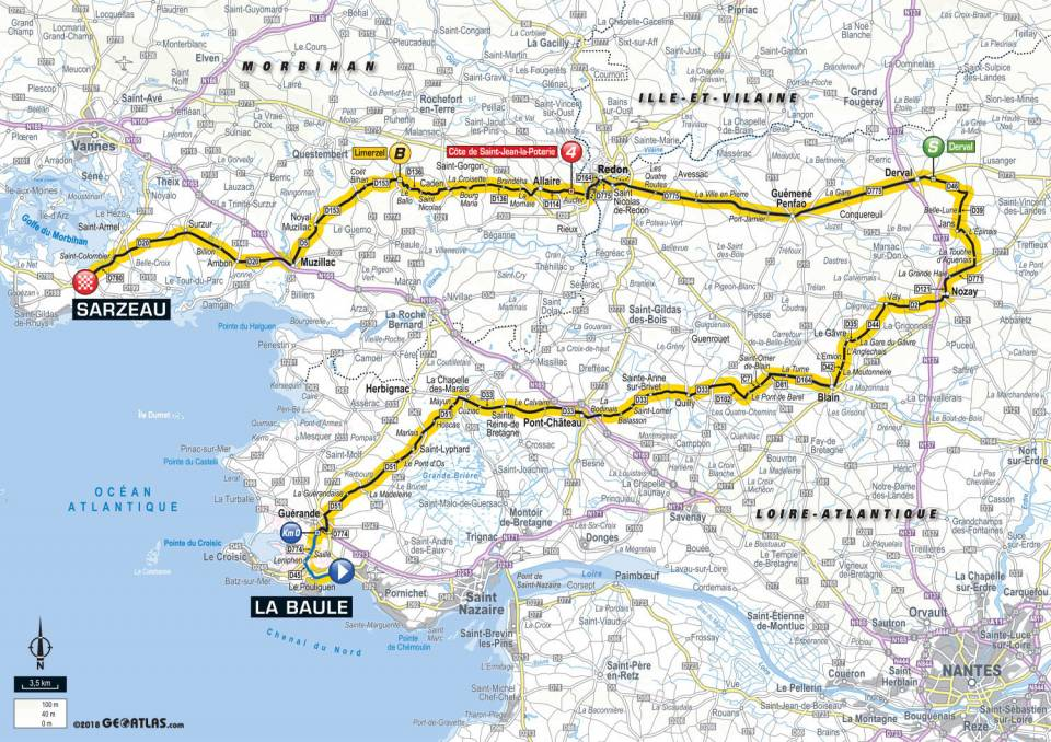 Carte étape 4 TDF 2018
