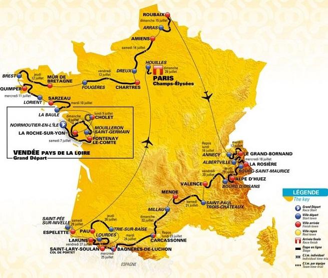 VIDÉO. Gaviria remporte la première étape du Tour de France, Froome chute