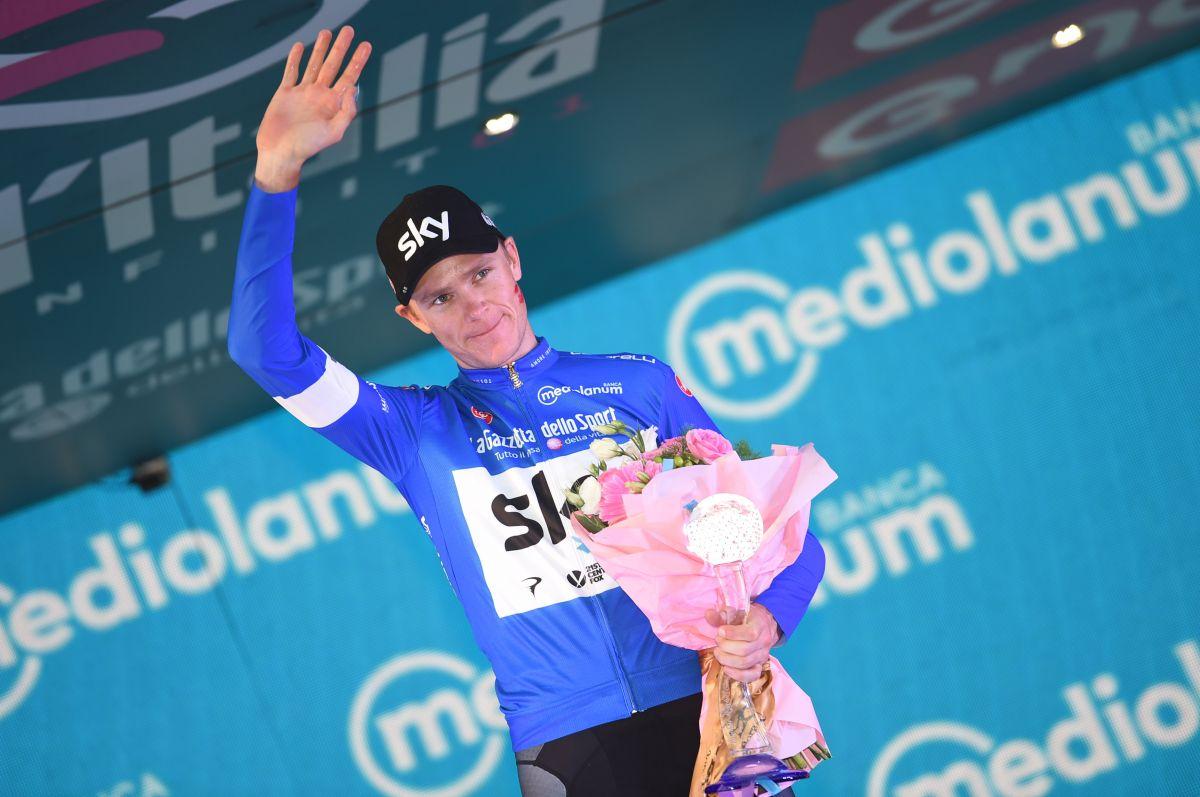 Chris Froome maillot bleu Giro