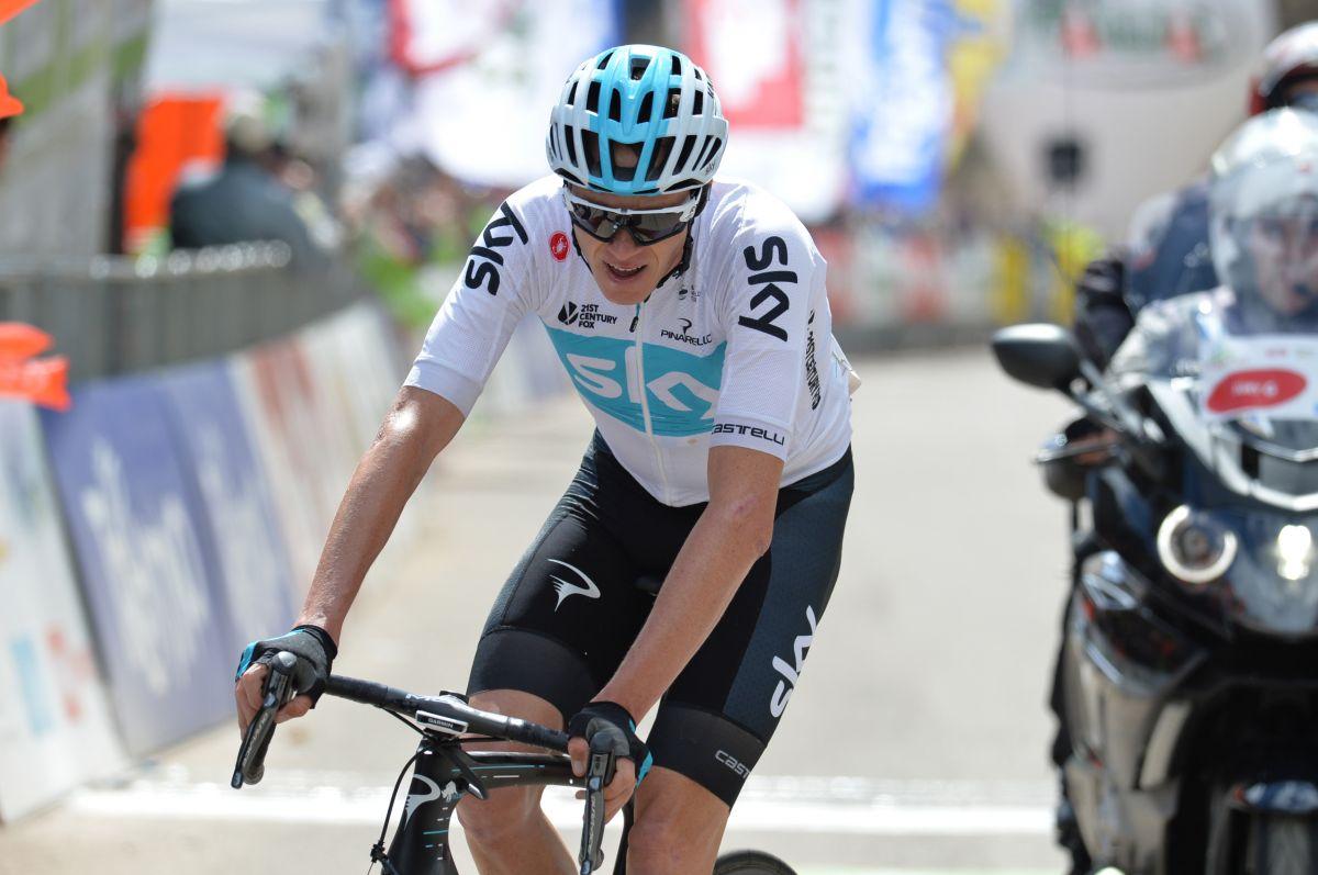 Chris Froome sur le Tour des Alpes