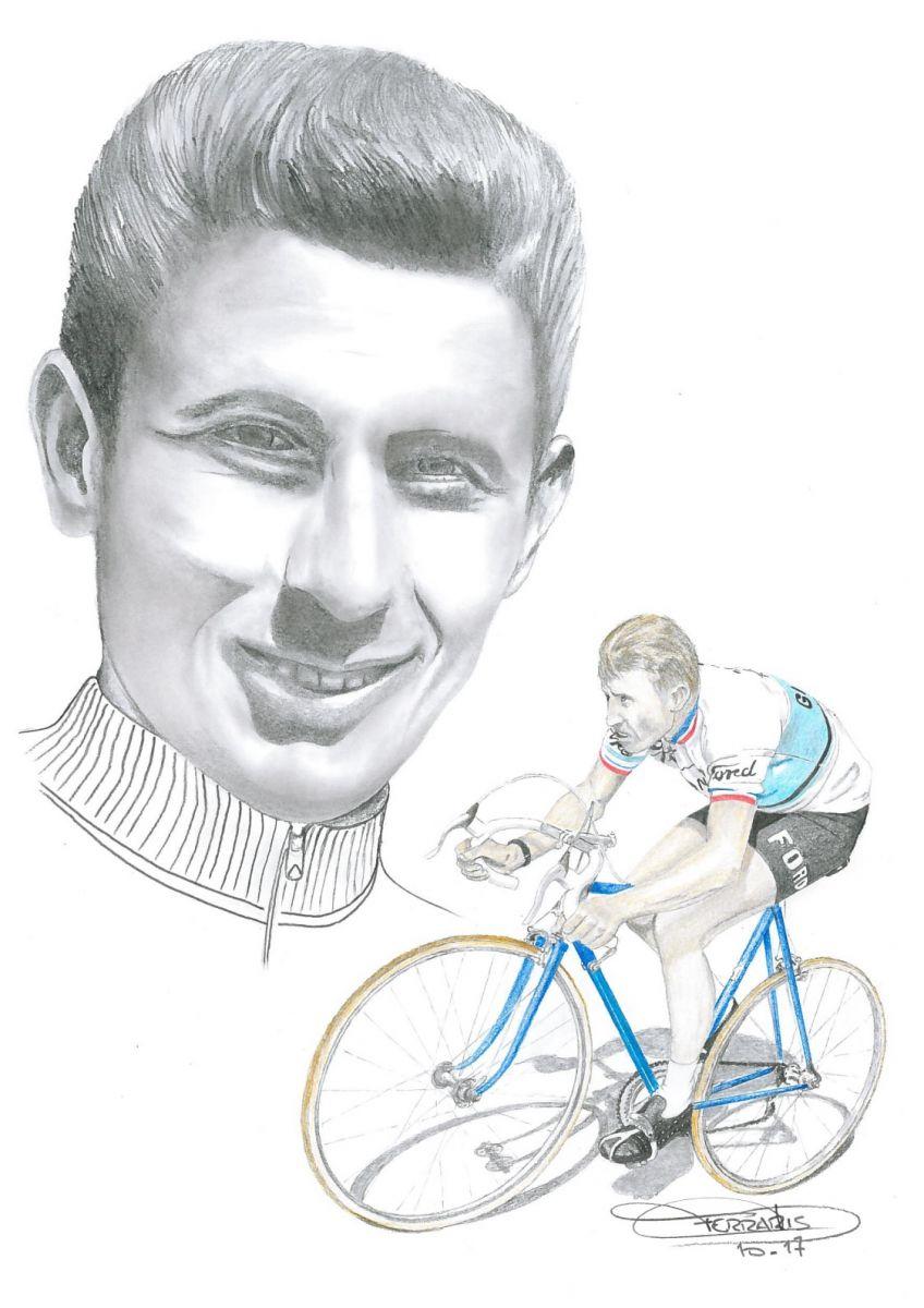 Dessin de Jacques Anquetil