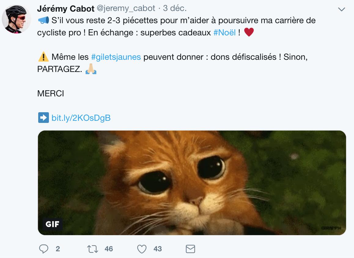 Jérémy Cabot fait campagne