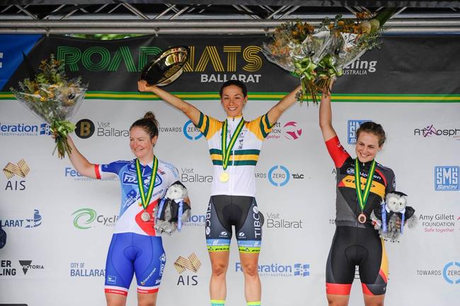 La podium du Champ' d'Australie Dames 2018
