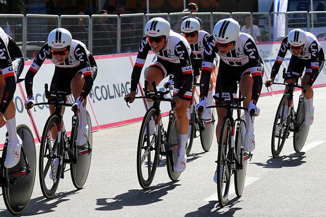 La Team Sunweb lors du CLM par équipes du Giro Rosa 2018