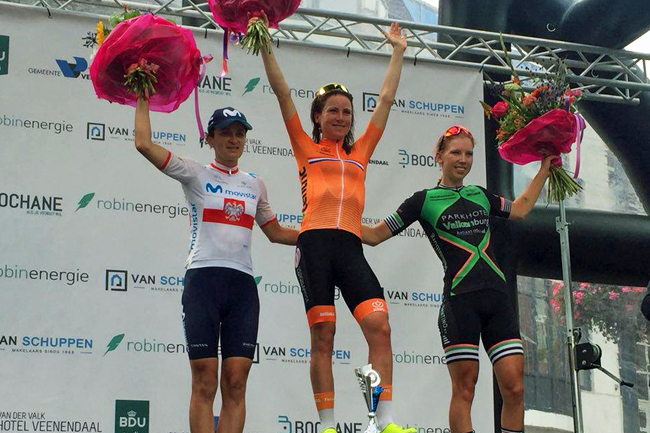 Le podium de la Veenendaal-Veenendaal Cl. Women 2018