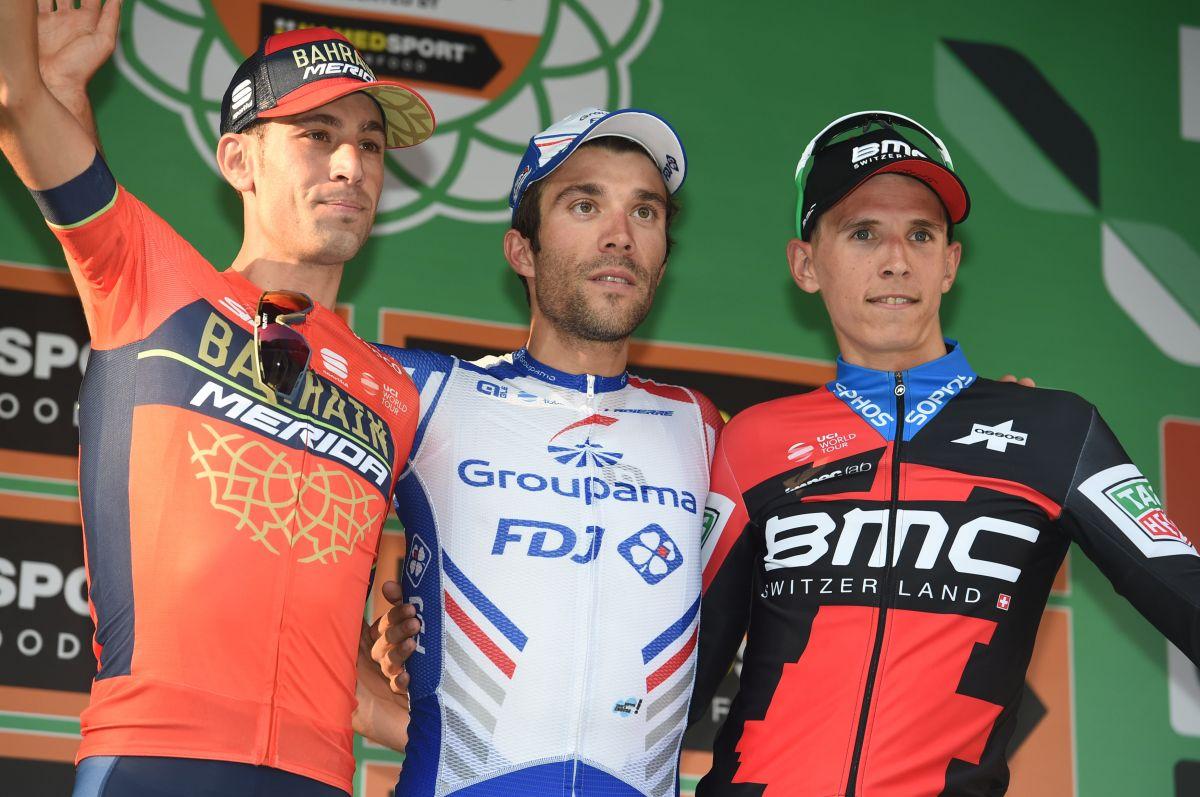 Le podium du Tour de Lombardie