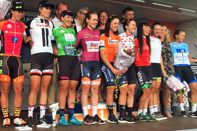 Le podium final du Boels Ladies Tour 2017