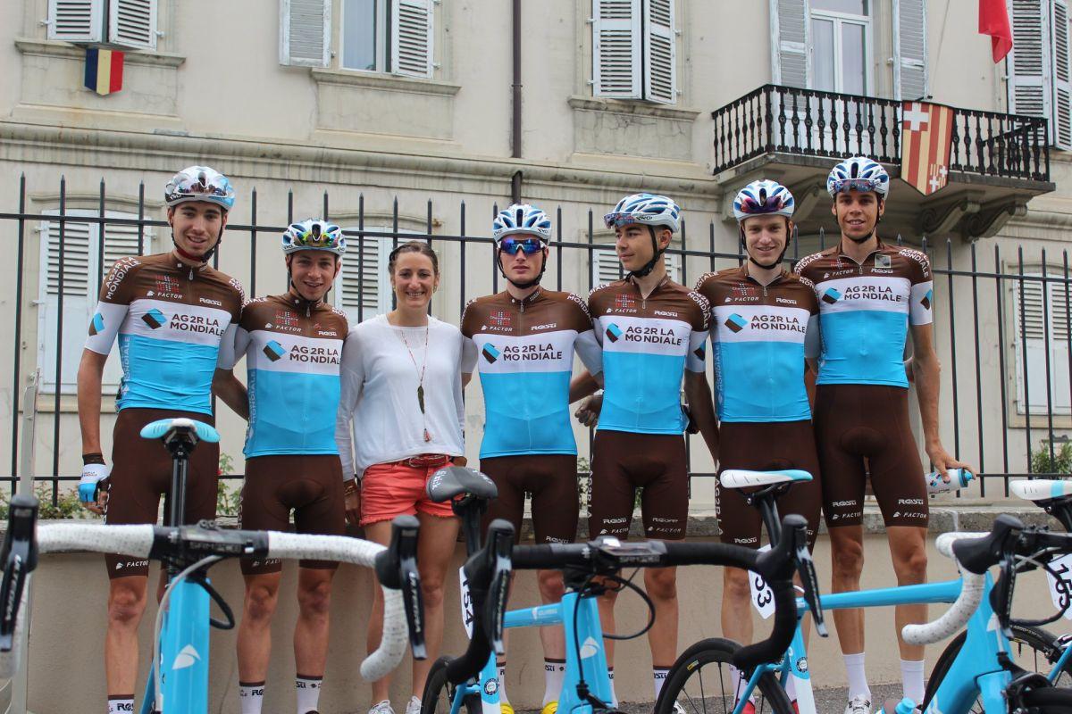 Les pensionnaires du CCF lors du Tour de Savoie Mont-Blanc