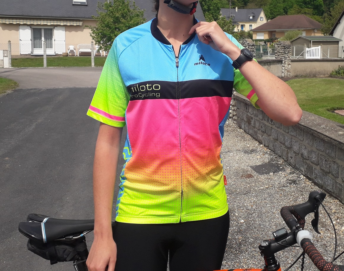 Maillot Rainbow La Bicycle plan américain