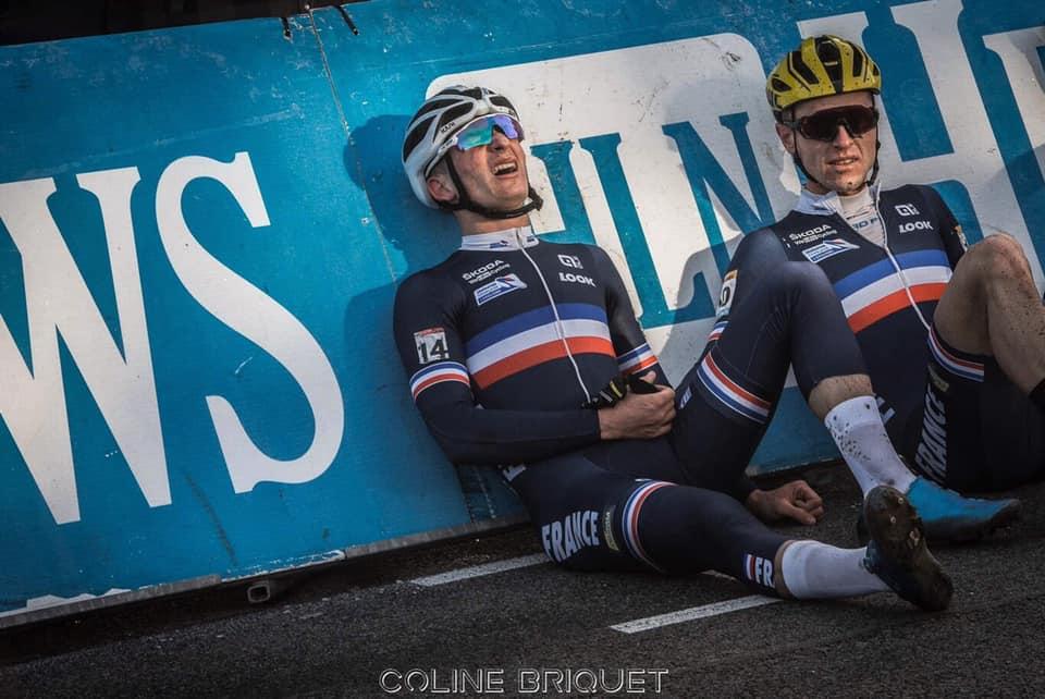 Matthieu Legrand et Sandy Dujardin après l'arrivée