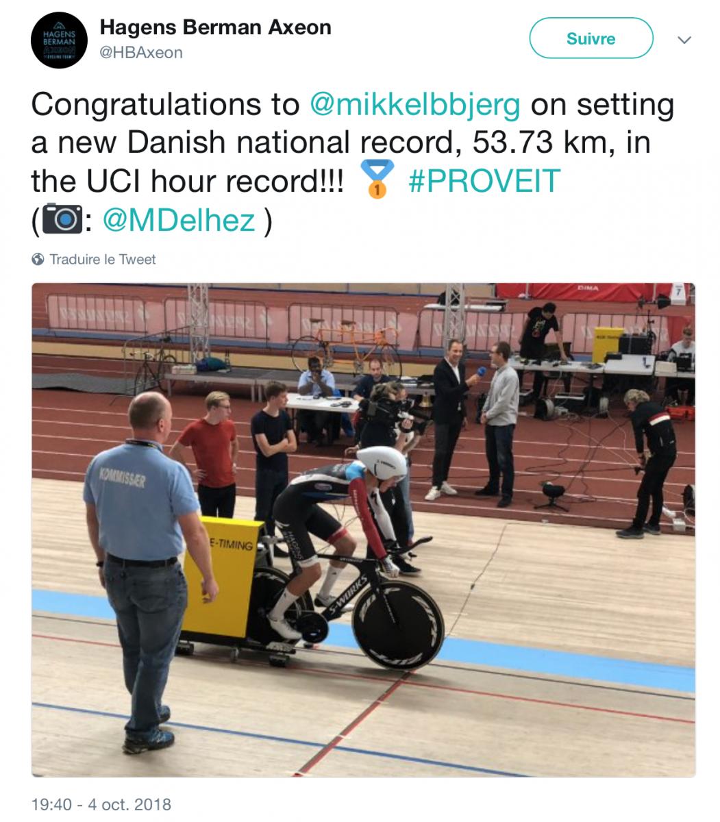 Mikkel Bjerg record de l'heure
