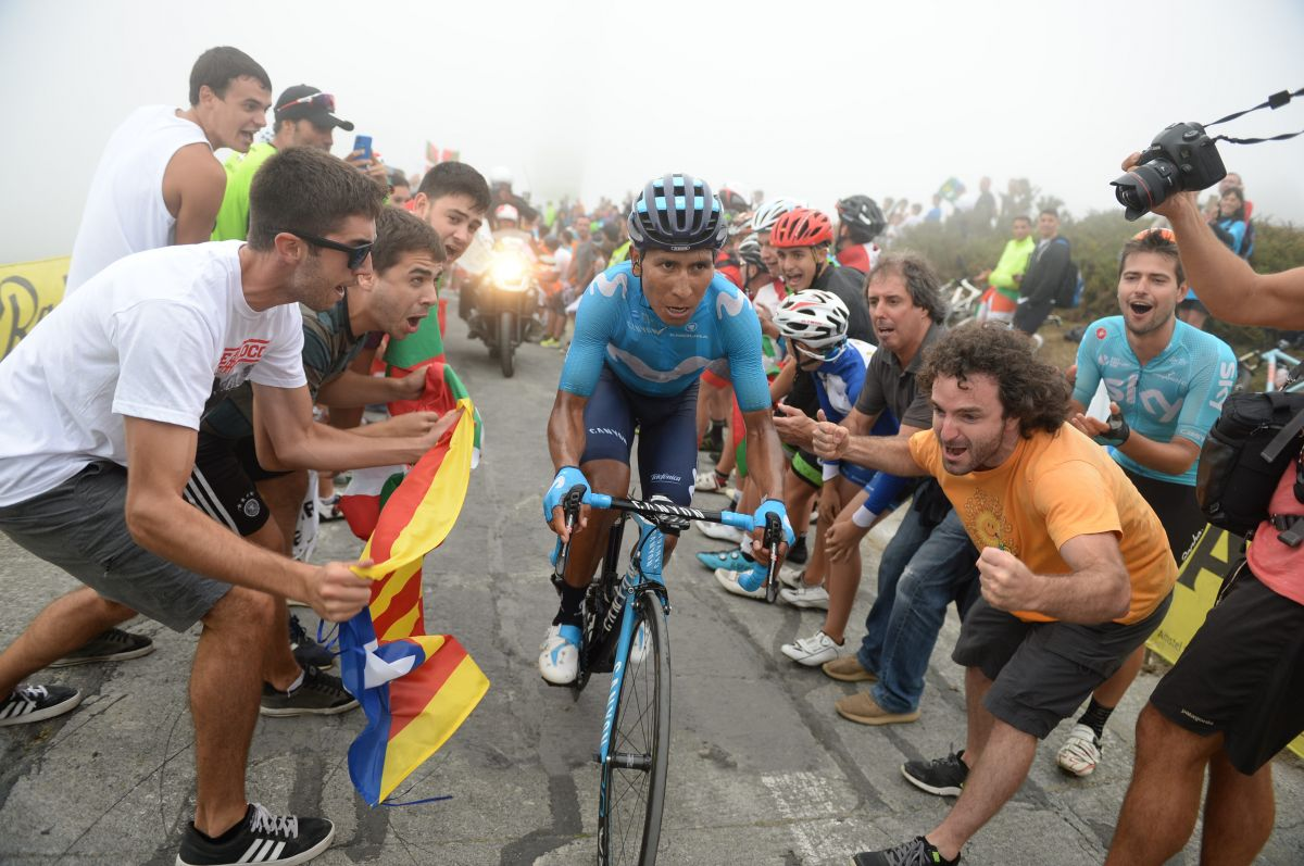 Nairo Quintana dans l'ascension vers Balcon de Biskaia