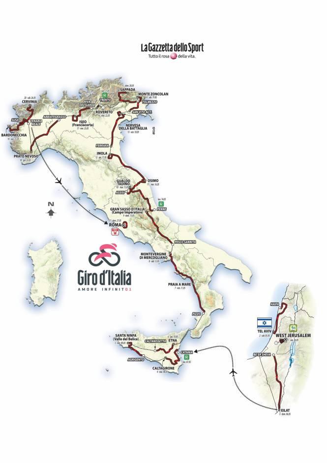 Parcours Giro 2018