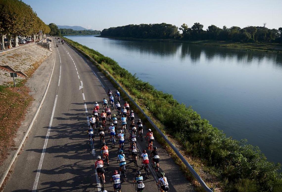 Peloton au Tour de l'Ardèche