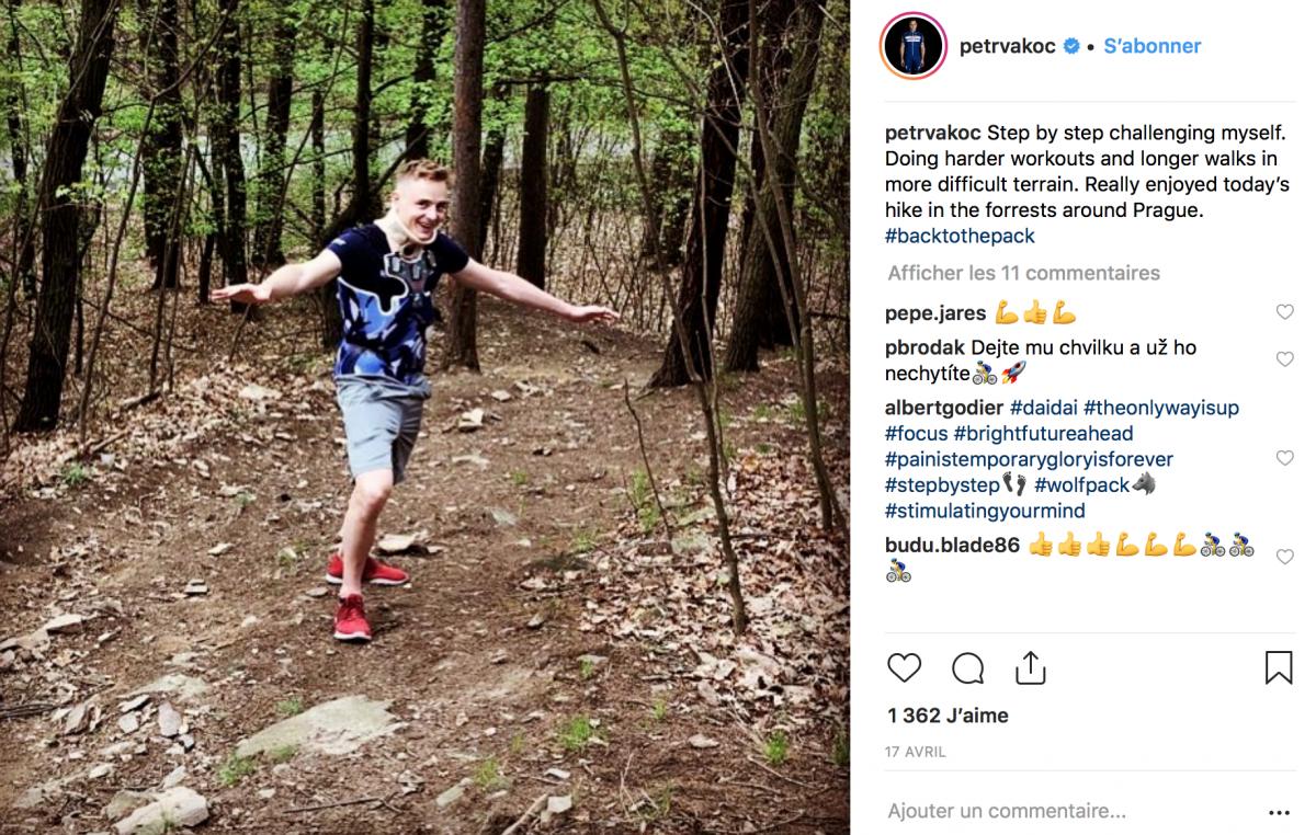 Petr Vakoc en balade à pied