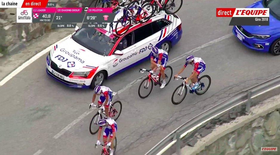 Tour d'Italie: Thibaut Pinot souffre d'un début de pneumopathie
