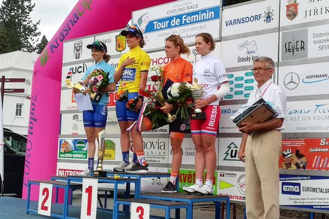 Podium final du Tour de Feminin 2018