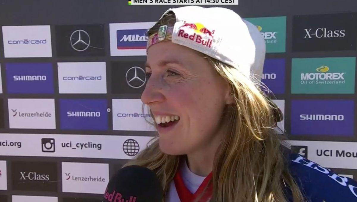 Rachel Atherton, après sa victoire aux championnats du monde