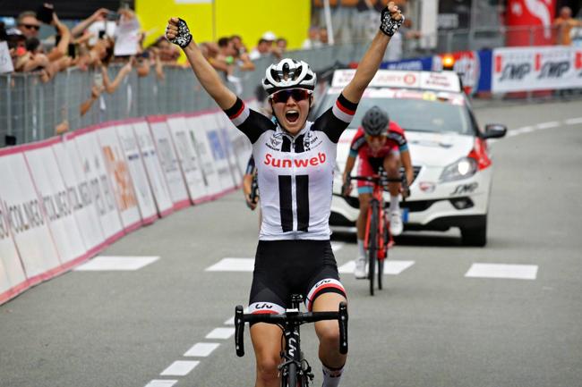 Ruth Winder 1ère à Omegna  sur le Giro Rosa 2018