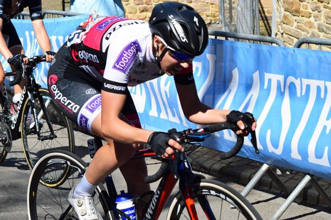 Séverine Eraud sur la Flèche Wallonne 2018