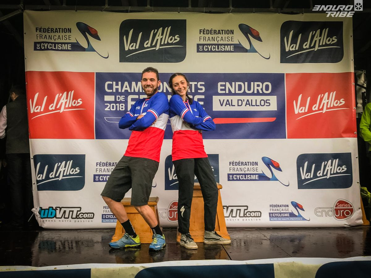 Thomas Lapeyrie champion de france vtt enduro laura charles