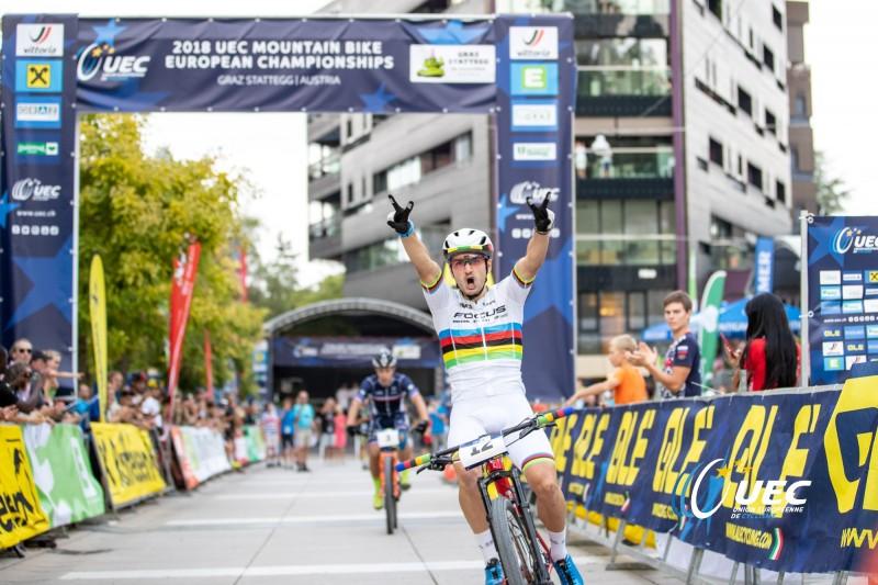 Titouan Perrin-Ganier champion d'Europe de VTT XCE