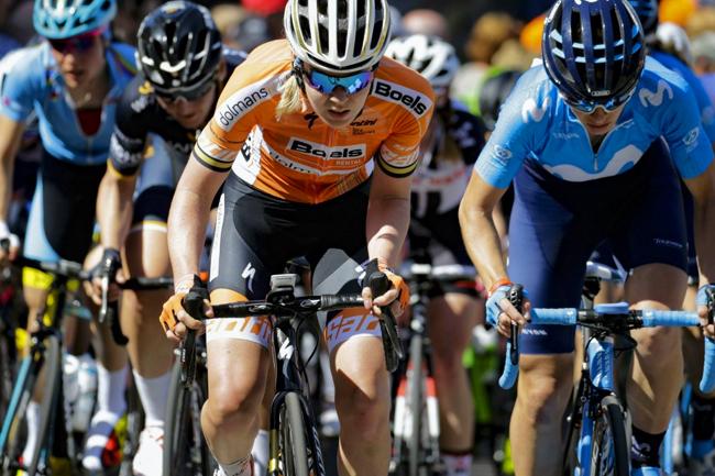 Van Der Breggen avec son maillot de la Boels-Dolmans 2018