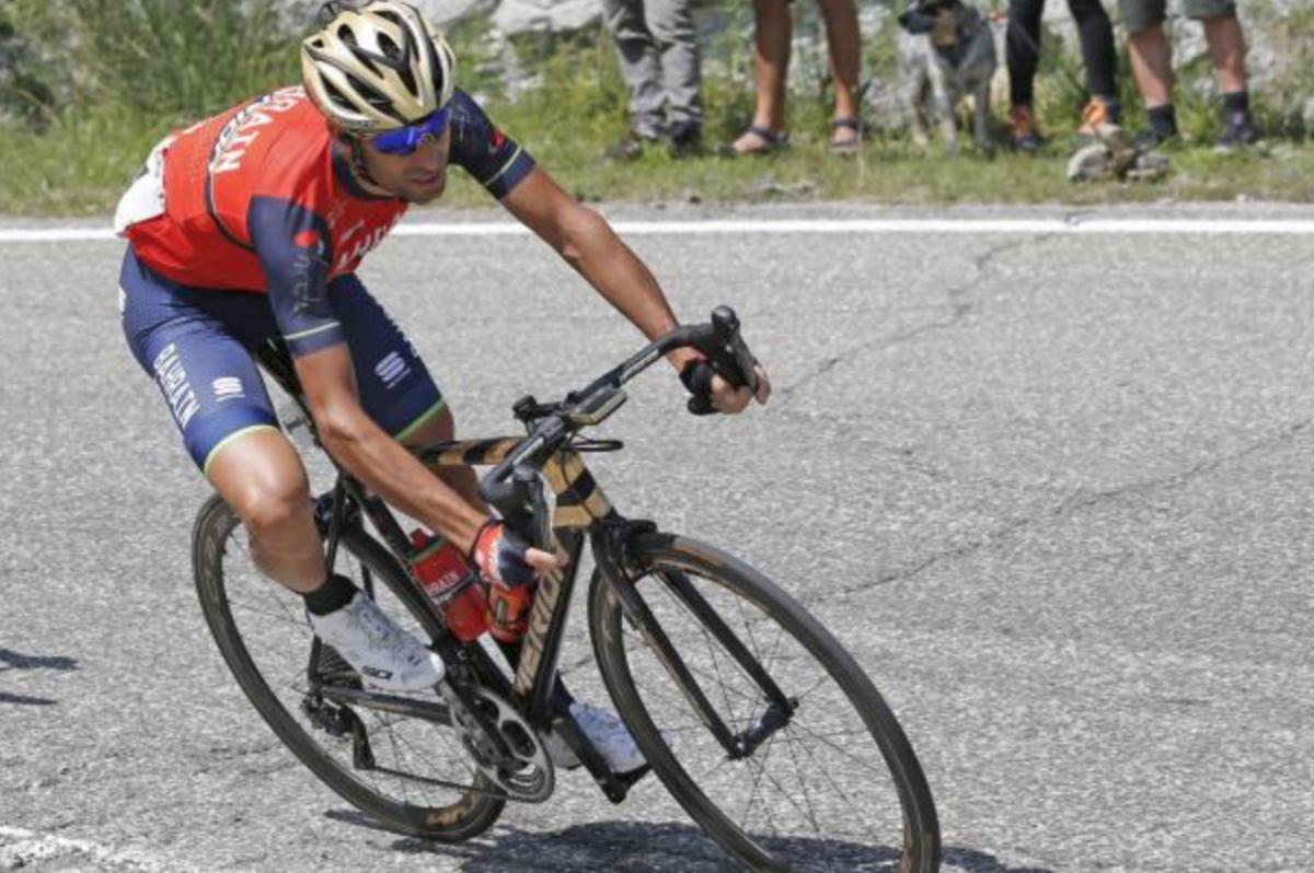 Vincenzo Nibali en descente