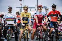 Geraint Thomas, Marcel Kittel, Alejandro Valverde et Vincenzo Nibali au Critérium de Saitama