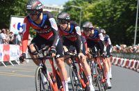 L'équipe BMC lors du contre-la-montre sur le Tour de France