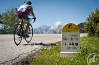 Le col de la Madeleine, arrivée de la cyclosportive portant le même nom