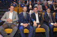 Les stars espagnols lors de la présentation de la Vuelta