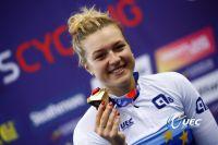 Mathilde Gros championne d'Europe du Keirin