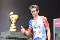 Thibaut Pinot en Israël, au départ du 101ème Giro