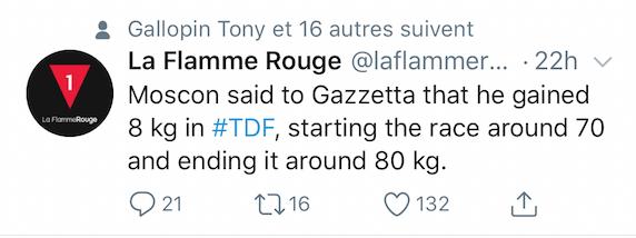 +8kg pour Moscon sur le TDF