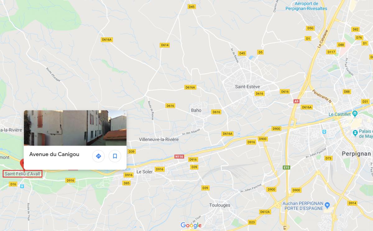 Accès_La Perpignan - Saint Féliu d'Avall