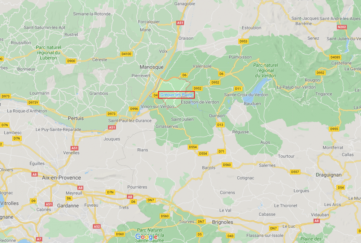 Accès_Les Boucles sur Verdon