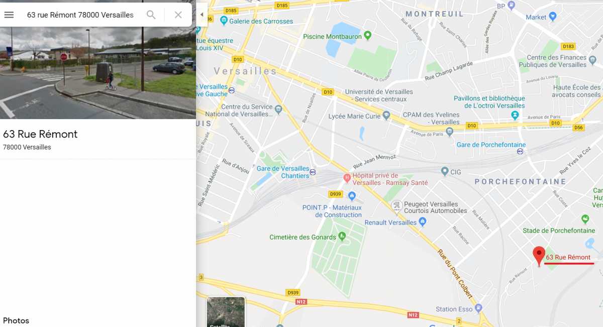 Accès Trace Versaillaise 2019