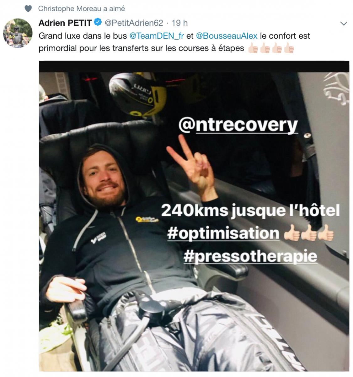 Adrien Petit optimise la récupération