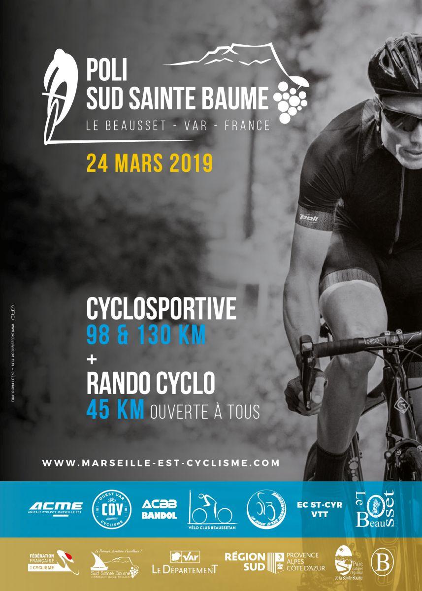 Affiche de la cyclo Poli sud St Baume