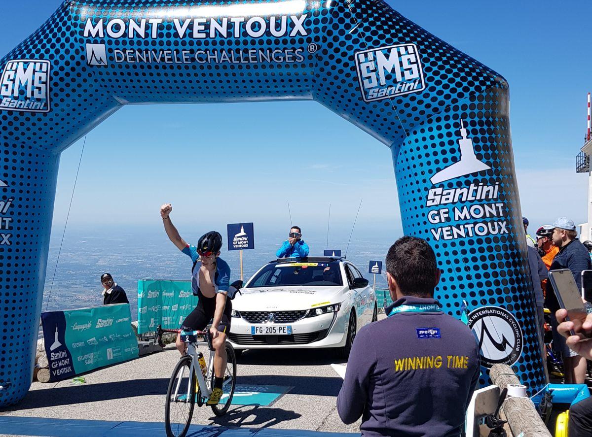 Antoine Berlin vainqueur au Ventoux