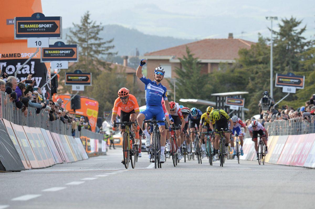 Arrivée 2ème étape Tirreno-Adriatico