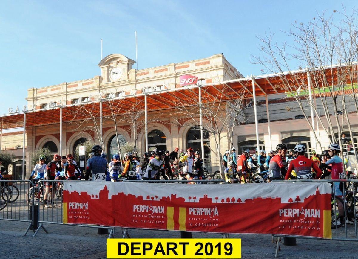 Avant le départ gare de Perpignan en 2019