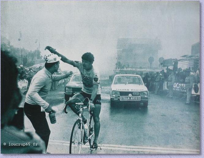 Bernard Thévenet vainqueur à La Mongie lors du Tour de France 1970