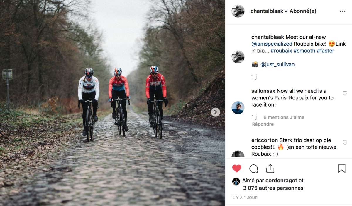 Boels Dolmans avec des vélos spécial Paris-Roubaix