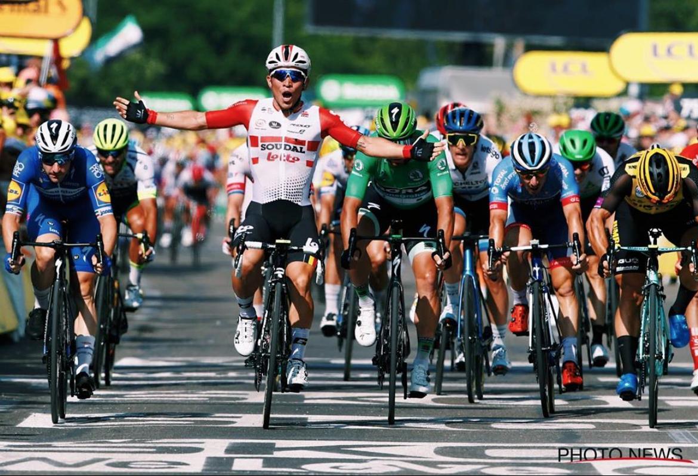 Caleb Ewan vainqueur sur le Tour